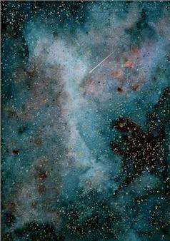 Fundo de galáxia em aquarela