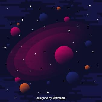 Fundo de galáxia escura