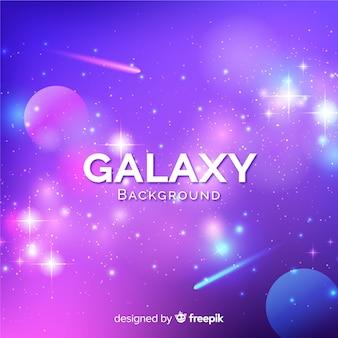 Fundo de galáxia linda com estilo colorido