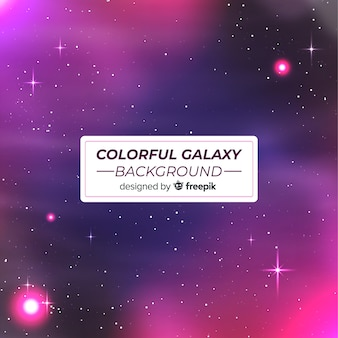 Fundo de galáxia moderna com estilo colorido