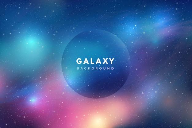 Fundo de galáxia multicolor