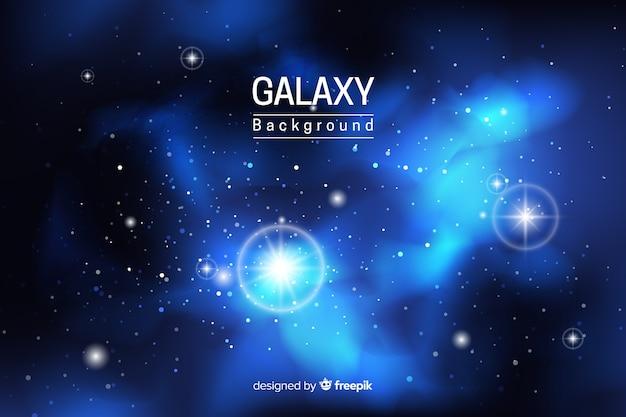 Fundo de galáxia neon abstrata