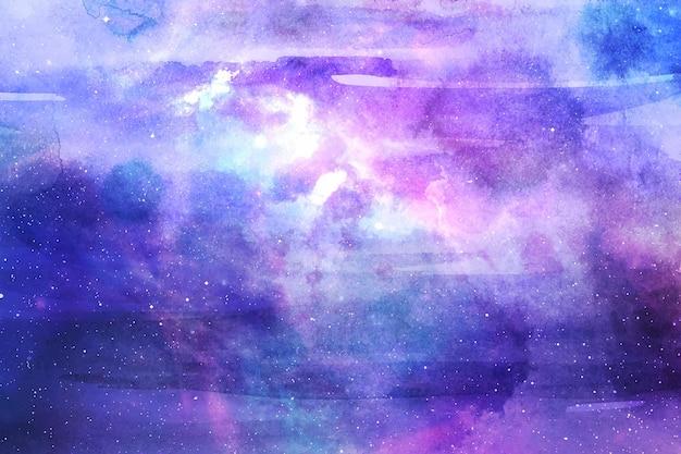 Fundo de galáxia pintado à mão