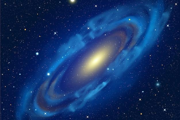 Fundo de galáxia realista