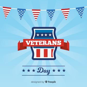 Fundo de galhardetes do dia dos veteranos