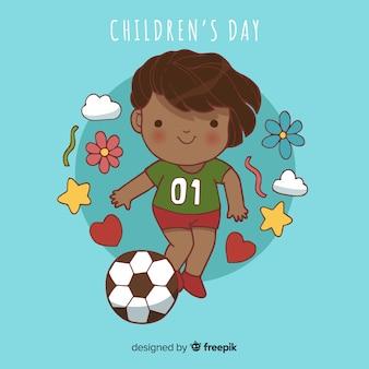 Fundo de garoto esportivo dia das crianças