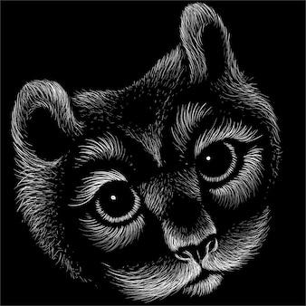 Fundo de gato bonito estilo de impressão.