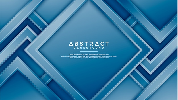 Fundo de geometria azul com estilo 3d.