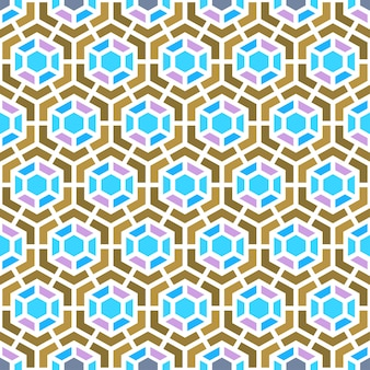 Fundo de geometria padrão de vetores de semales