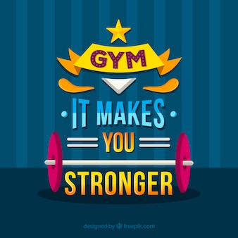 Fundo de ginásio com frase inspiradora