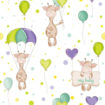 Fundo de girafa bebê