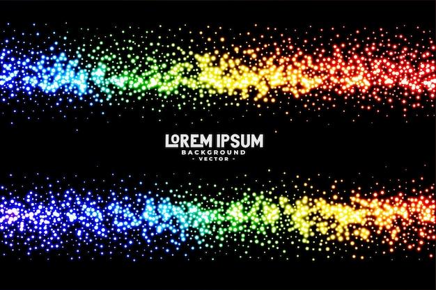 Fundo de glitter cor abstrata arco-íris