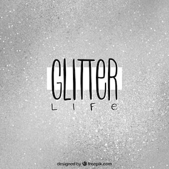 Fundo de glitter prata