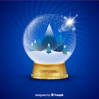 Fundo de globo de bola de neve de natal gradiente