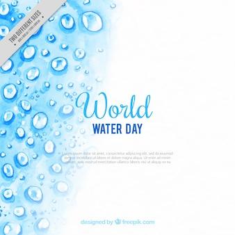Fundo de gotas de água aquarela