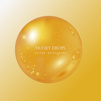Fundo de gotejamento e mel