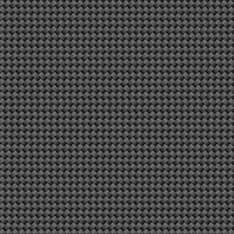 Fundo de grade de fibra de carbono preto escuro moderno.