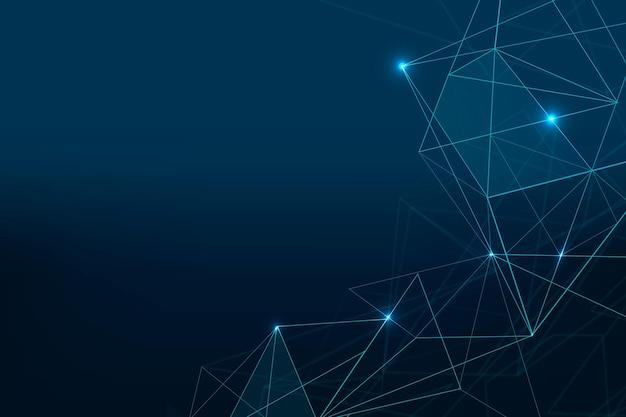 Fundo de grade digital futurista de vetor azul escuro abstrato