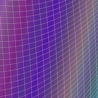 Fundo de grade geométrica - design vetorial a partir de grade de linha angular curvada