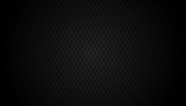Fundo de grade geométrica preto escuro textura de vetor abstrato escuro moderno