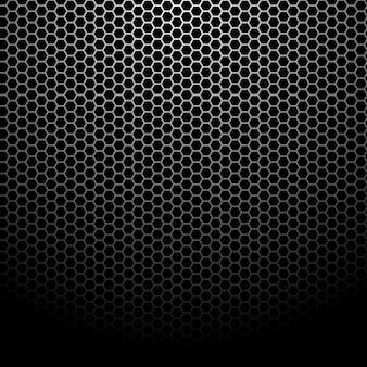 Fundo de grade hexagonal metálico