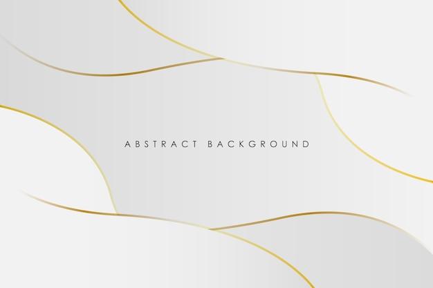 Fundo de gradiente branco abstrato com linha dourada curva