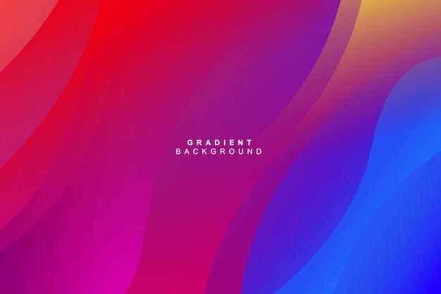 Fundo de gradiente curva colorido multicolor fluido dinâmico moderno