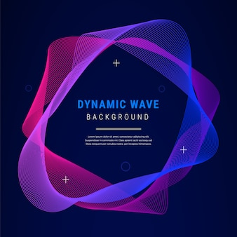 Fundo de gradiente de onda dinâmica abstrata
