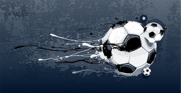 Fundo de graffiti de futebol