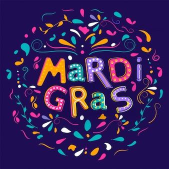 Fundo de grama mardi