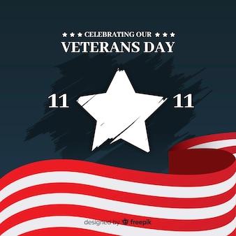Fundo de grande estrela do dia dos veteranos