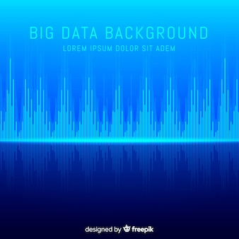 Fundo de grande volume de dados abstrato azul e moderno