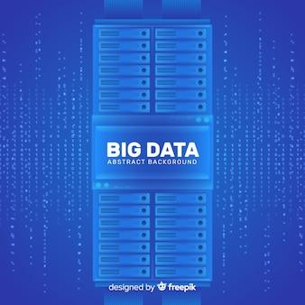 Fundo de grande volume de dados no design de estilo abstrato