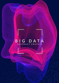 Fundo de grande volume de dados. tecnologia de visualização artificial em