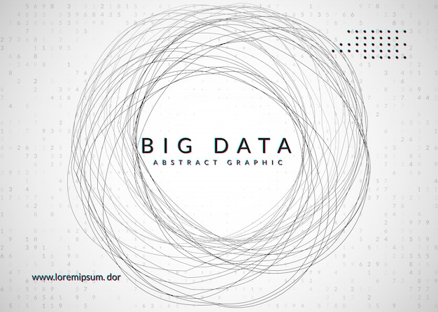 Fundo de grande volume de dados. tecnologia para visualização Vetor Premium