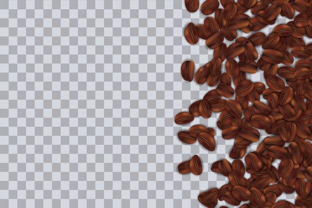 Fundo de grãos de café a assar caindo.