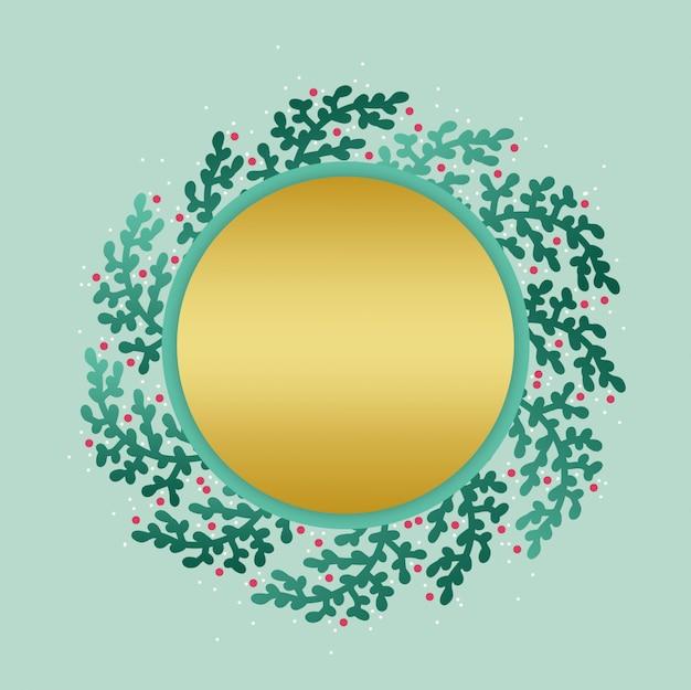 Fundo de grinalda dourada de mão desenhada elegante