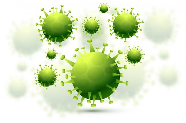 Fundo de gripe de infecção por bactérias ou coronavírus