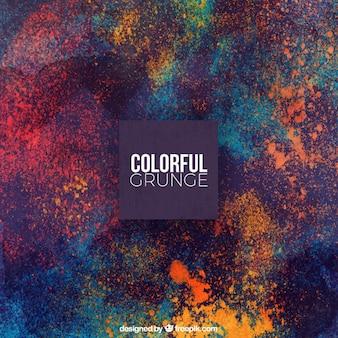 Fundo de grunge de manchas coloridas