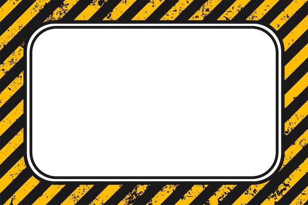 Fundo de grunge vazio listras pretas amarelas
