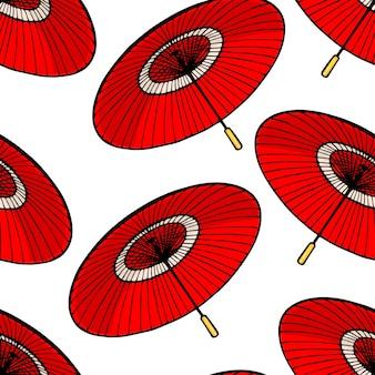Fundo de guarda-chuvas japoneses