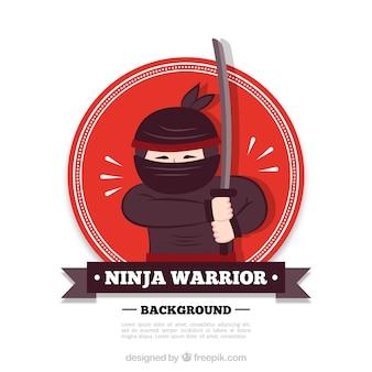 Fundo de guerreiro ninja