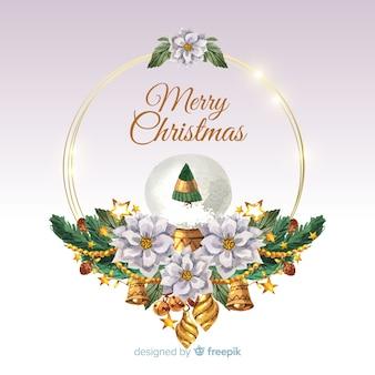 Fundo de guirlanda de Natal