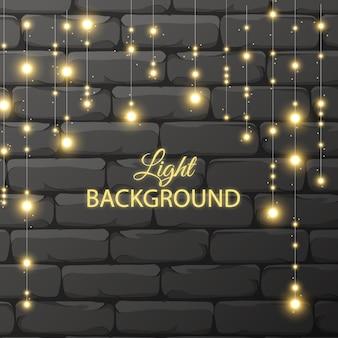 Fundo de guirlandas de luzes brilhantes