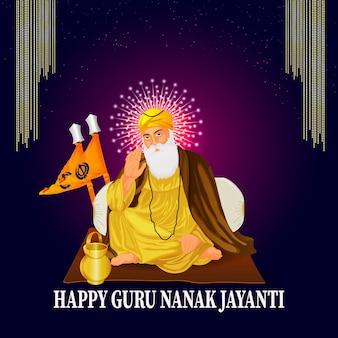 Fundo de guru nanak jayanti feliz