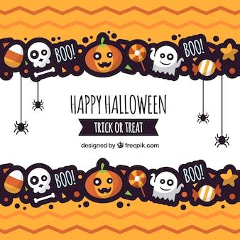 Fundo de halloween com estilo divertido