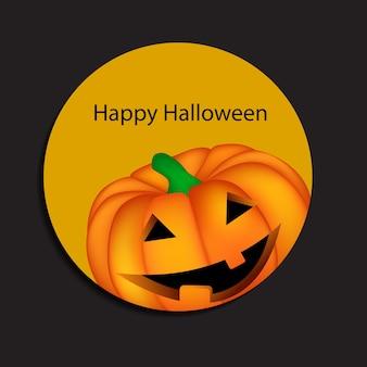 Fundo de halloween com ilustração vetorial de abóbora