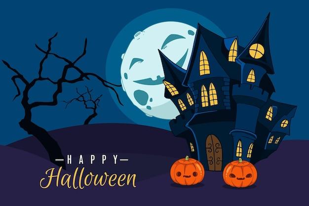 Fundo de halloween desenhado à mão