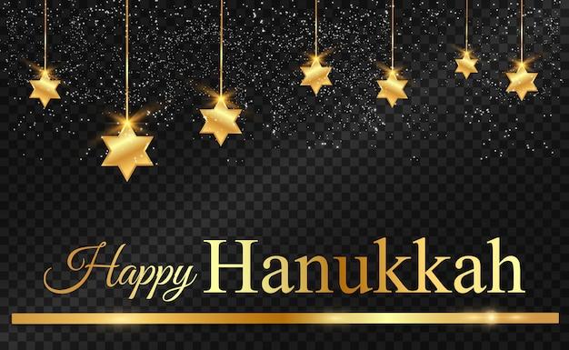 Fundo de hanukkah com estrelas de david.