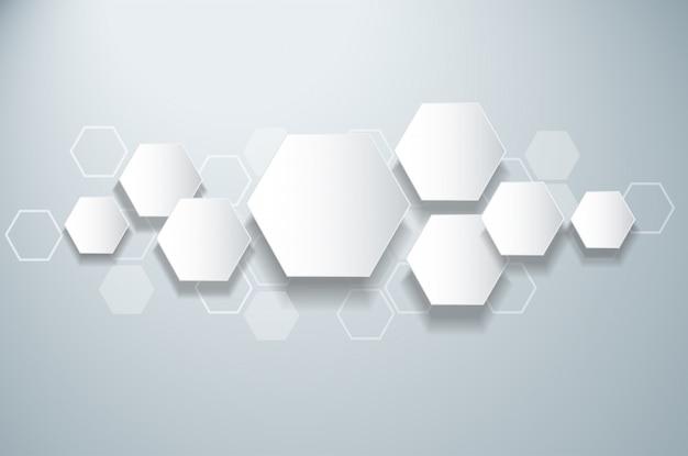 Fundo de hexágono de concepção abstrata colmeia